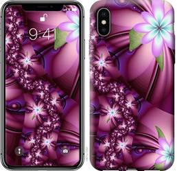 """Чехол на iPhone X Цветочная мозаика """"1961c-1050-328"""""""