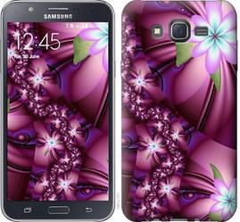 """Чехол на Galaxy J7 J700H Цветочная мозаика """"1961c-101-328"""""""