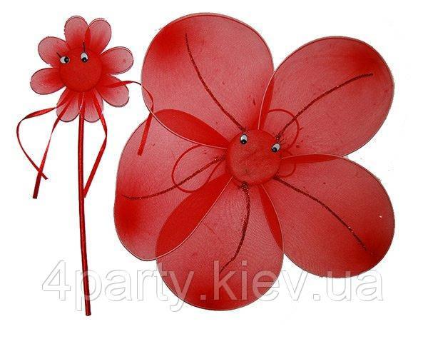 Набор детский Цветочек (краные) 250216-026