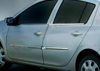 RENAULT CLIO III-HB Наружняя окантовка стекол (нерж.) 4 шт.