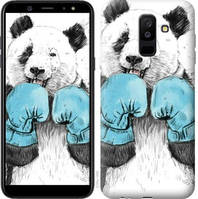 "Чехол на Galaxy A6 Plus 2018 Панда-боксер ""4104c-1495-328"""