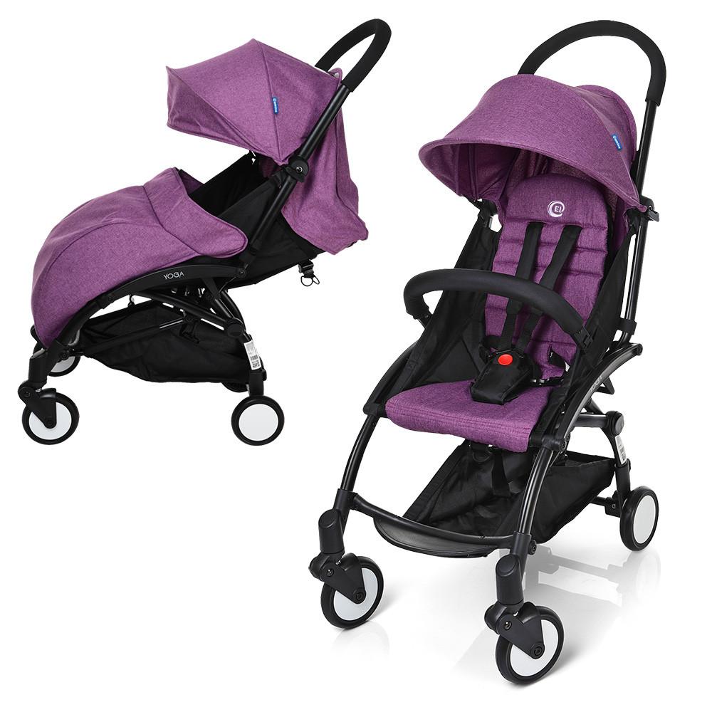 Прогулочная коляска Baby YOGA M 3548-9-2 фиолетовая