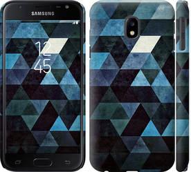 """Чехол на Galaxy J3 (2017) Треугольники """"2859c-650-328"""""""