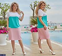 Женское летнее платье льняное большого размера 48-50, 52-54, 56-58, 60-62 (расцветки)