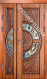 Двері вхідні 1200 з полімер плитою з ковкою, фото 2