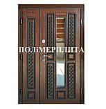 Двері вхідні 1200 з полімер плитою з ковкою, фото 5