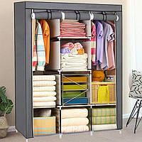 Большой тканевый шкаф для одежды 88130 (расцветки в ассортименте), фото 1