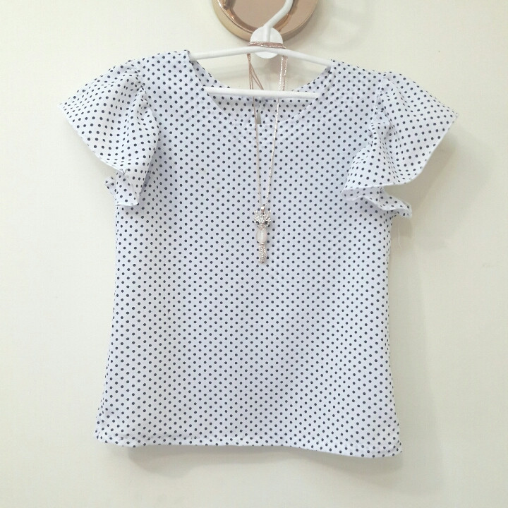 """Школьная блуза для девочки """"горошек"""""""