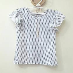 """Шкільна блуза для дівчинки """"горошок"""""""