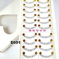 Ресницы на нижнее веко по 10 пар (16 видов) 6, К центру, Ровные