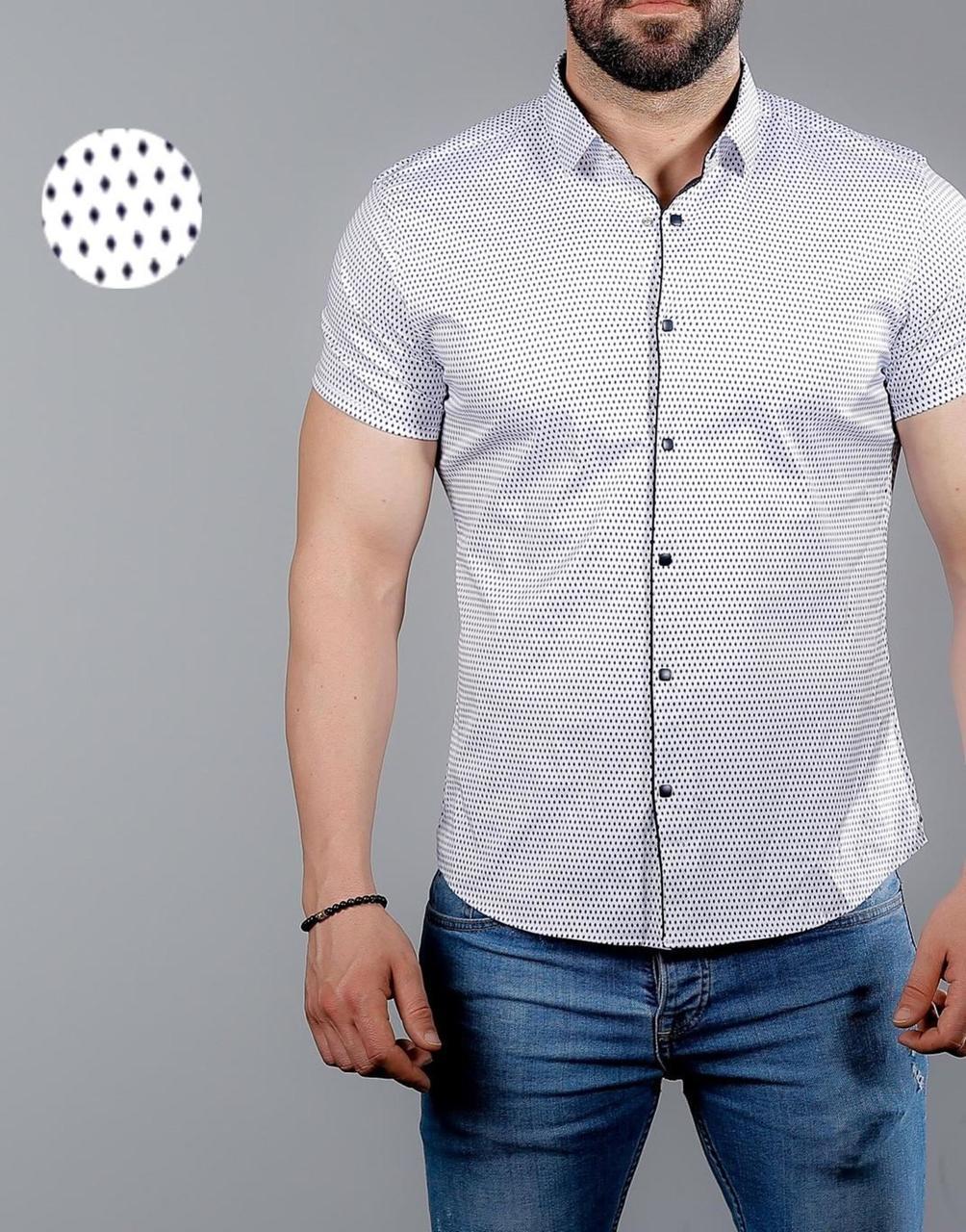 ec4e004026d8efe Стильная летняя мужская рубашка с коротким рукавом, коллекция 2019 года -