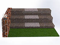 Плитка гранитная для ступеней Васильевка (Размер - 300×400×30), фото 1