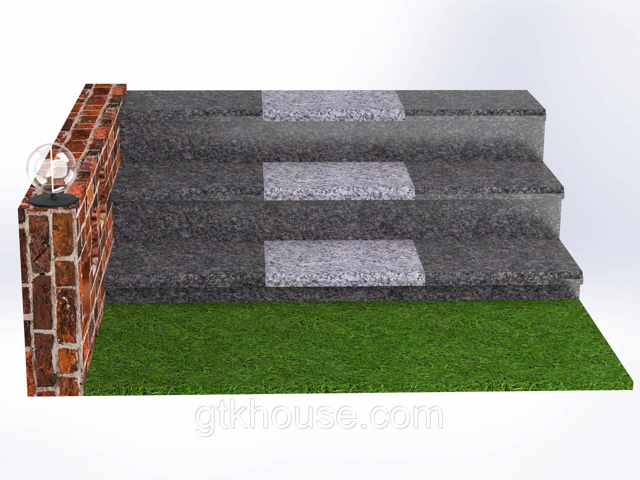 Плитка гранитная для ступеней Старобабаны (Размер - 300×400×30)