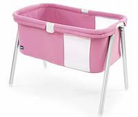 Кровать для новорожденных  мини LullaGo Chicco Italy розовая 79812.06