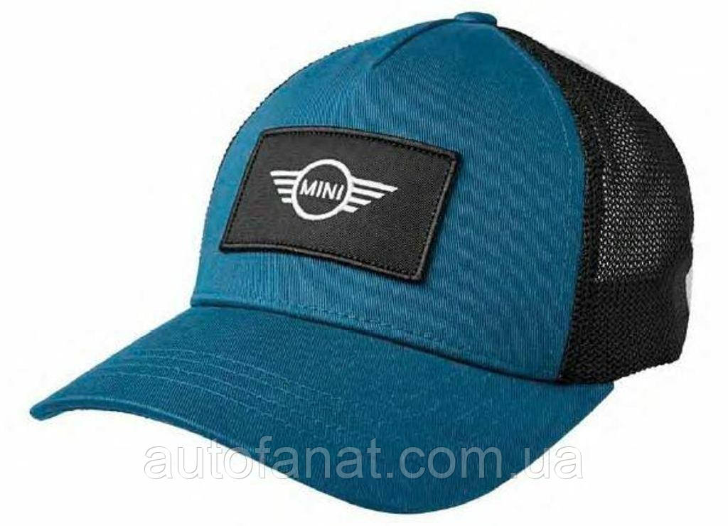 Оригинальная бейсболка унисекс MINI Logo Patch Trucker Cap, Island/Black (80162460852)