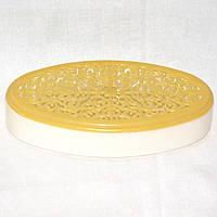 Ажурная овальная шкатулка для украшений или швейных аксессуаров, размер 21х12х3,5 см