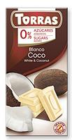 Шоколад Torras Blanco Coco белый 75 г