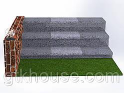 Плитка гранитная для ступеней Покостовская (Размер - 300×400×30)