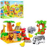 Конструктор JDLT зоопарк, животные 5шт, 43 дет, 5031