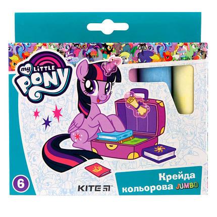 "Мел цветной Kite Jumbo, 6 цветов ""Little Pony"", LP19-073, фото 2"