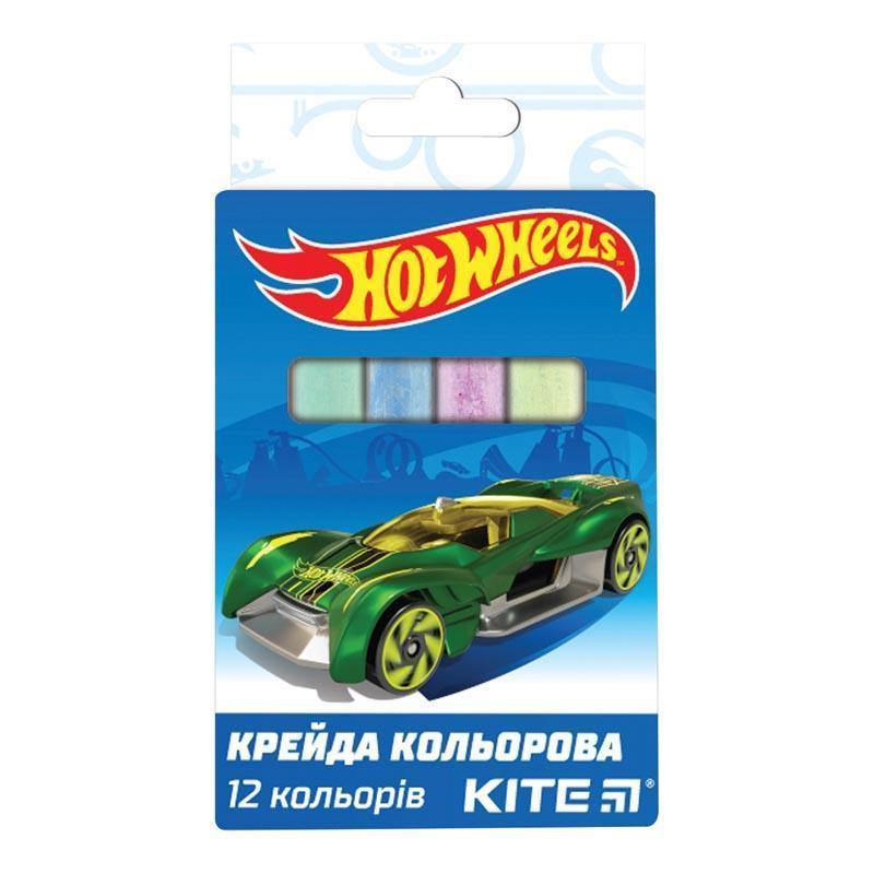 """Мел цветной Kite, 12 шт. """"Hot Wheels"""", HW19-075"""