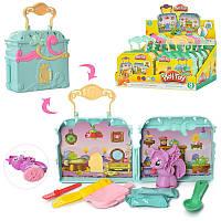 Пластилин Play-Doh Little Pony, 2 цвета (стик), формочки, MK2722