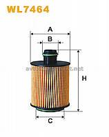 Фильтр масляный FIAT (производство WIX-Filtron) (арт. WL7464), ABHZX