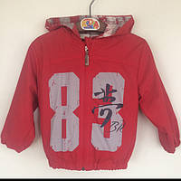 Куртка детская ветровка для мальчика Baby Rose Турция красная 8327