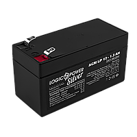 Аккумулятор кислотный AGM LogicPower LP 12 - 1,3 AH SILVER, фото 1