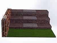 Плитка гранитная для ступеней Токовская (Размер - 300×400×30), фото 1