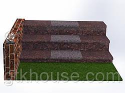 Плитка гранитная для ступеней Токовская (Размер - 300×400×30)