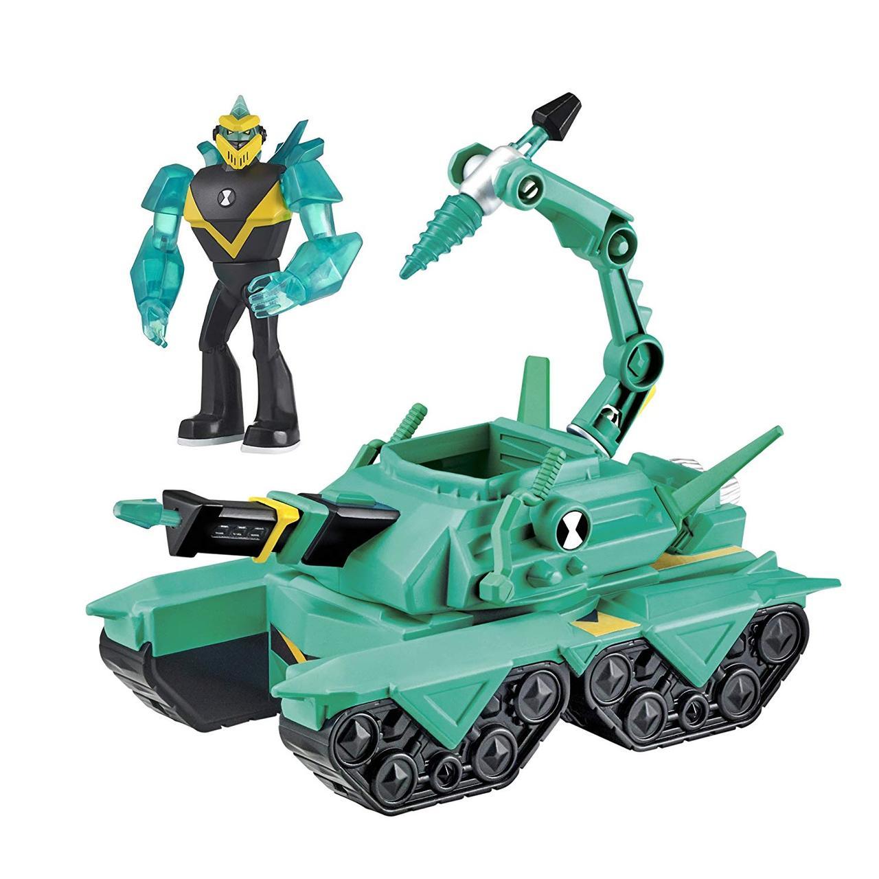 Игровой набор Бен 10 Diamondhead Power Tank алмазный бурильщик
