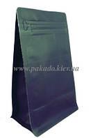 Пакет с плоским дном 130х255х90 (500г) ЧЕРНЫЙ, боковой zip-замок