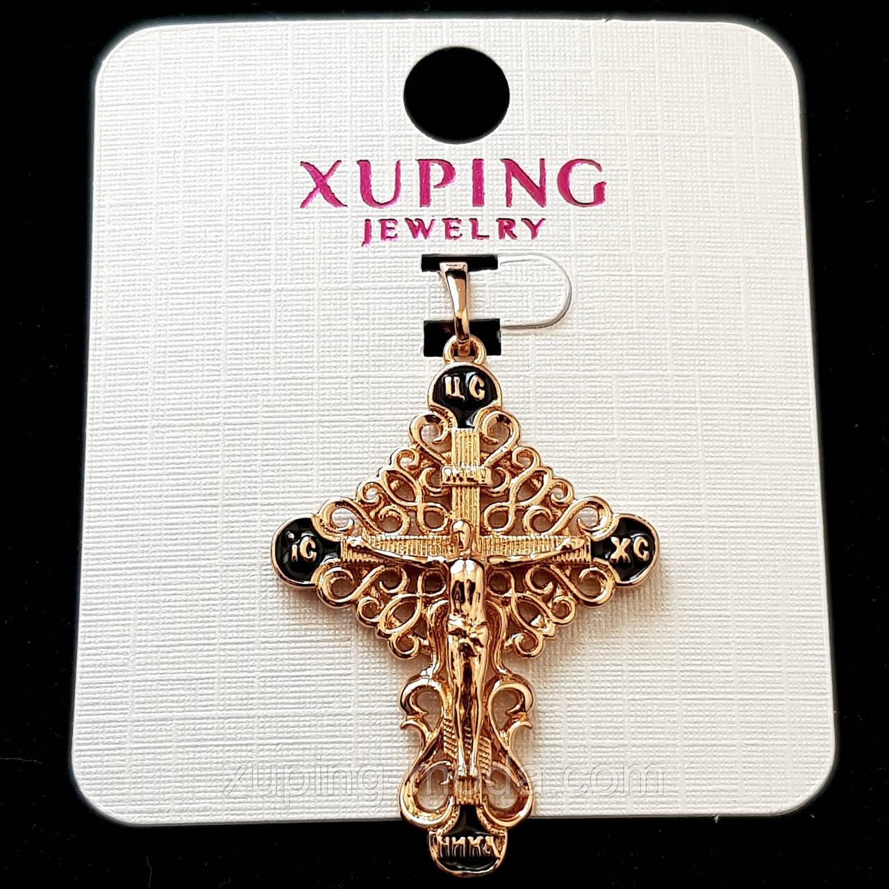 Кулон крест xuping  33х25 позолота 18к