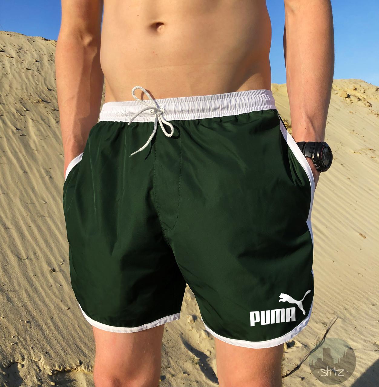 Шорты мужские легкие Puma green (реплика)