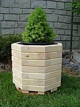 Вазон, кашпо, кадка деревянная для растений и деревьев (8 граней)