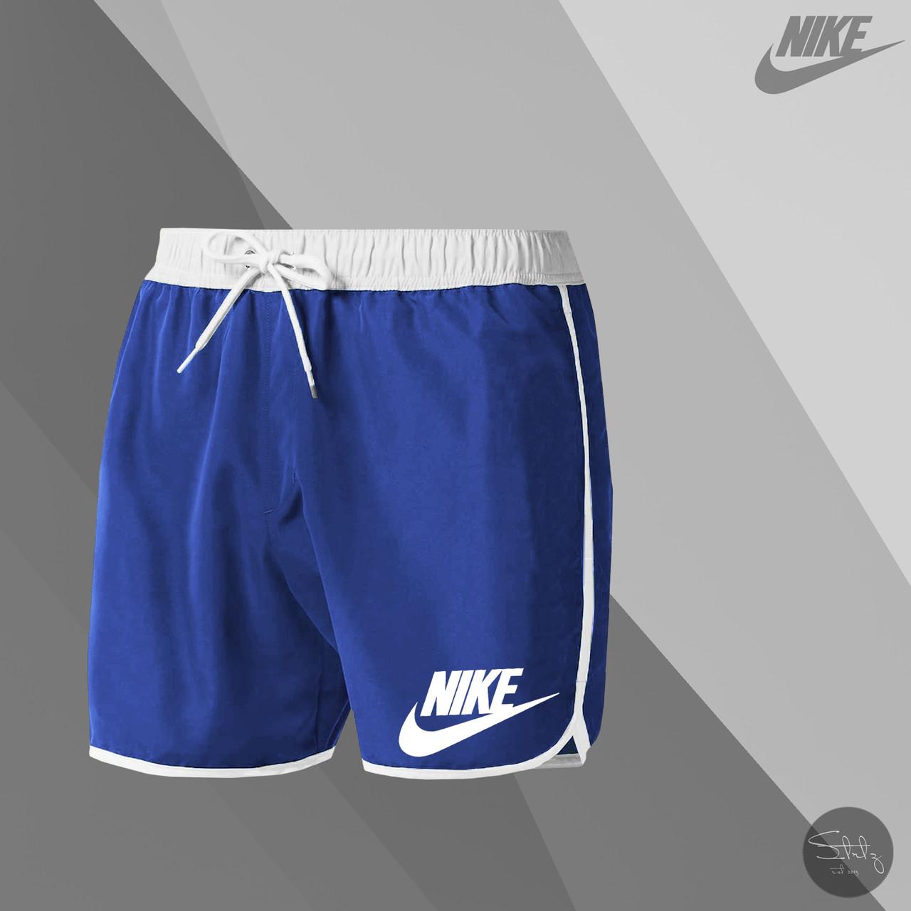 Мужские шорты для купания Nike blue (реплика)