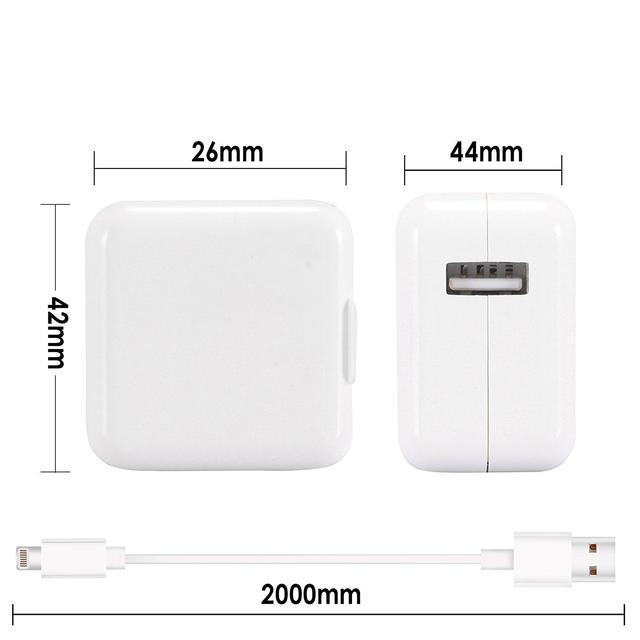 Зарядное устройство сетевой адаптер JANX 12W Universal USB и 8-контактный USB-кабель