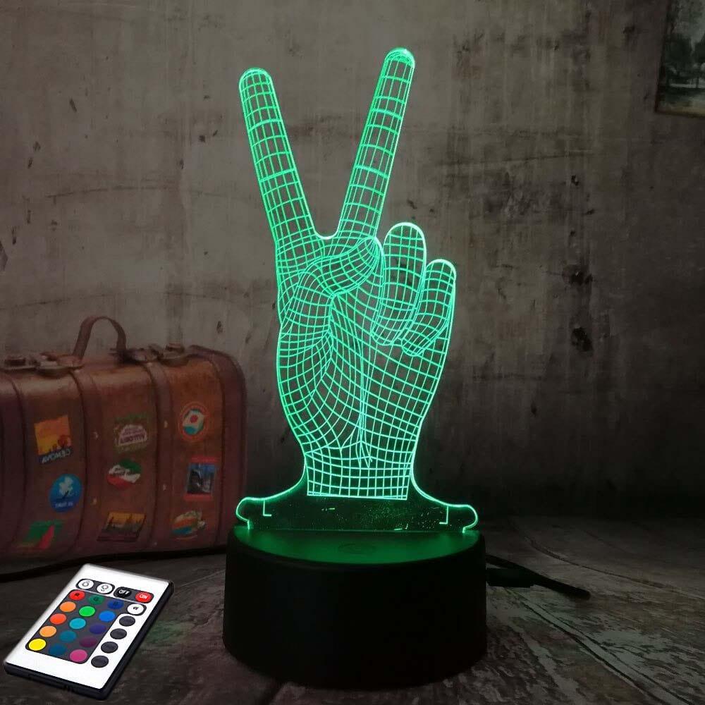 3D светильник с пультом 3D Lamp Виктори (LP-2960)