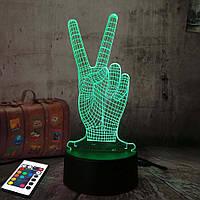 3D светильник с пультом 3D Lamp Виктори (LP-2960), фото 1