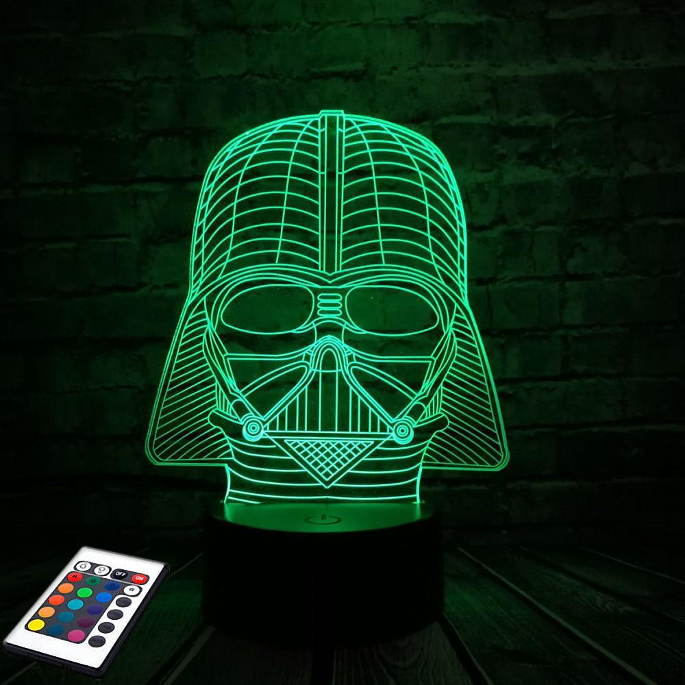 3D светильник с пультом 3D Lamp Дарт Вейдер (LP-2912)