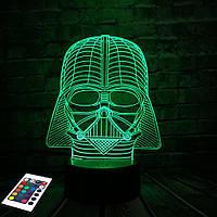 3D светильник с пультом 3D Lamp Дарт Вейдер (LP-2912), фото 1
