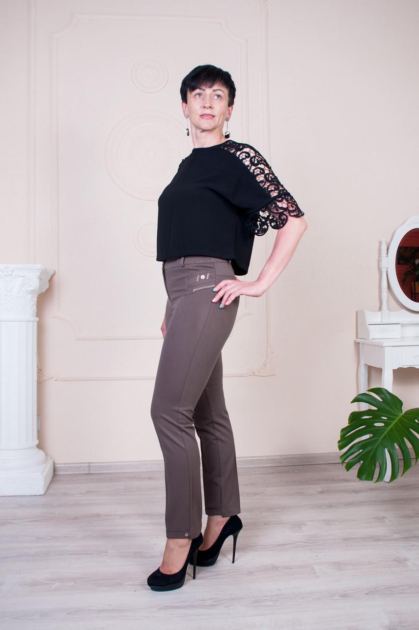 Женские укороченые брюки Молли беж