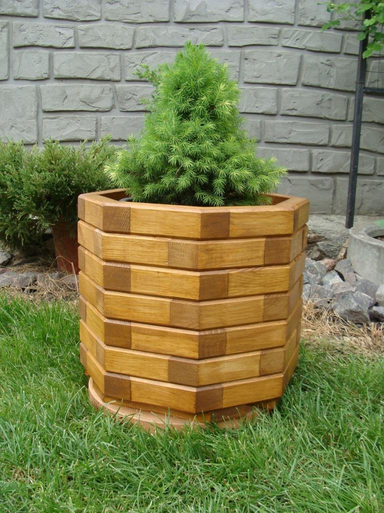 Кадка, кашпо, вазон деревянный для растений и деревьев