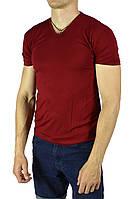 Красная мужская футболка однотонная WILUSA на лето, фото 1