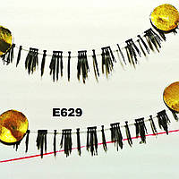 Ресницы на нижнее веко по 10 пар (22 вида) 5, К центру, Широкие