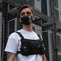 Сумка-разгрузка мужская черная бренд ТУР модель Страйкер (Stryker)