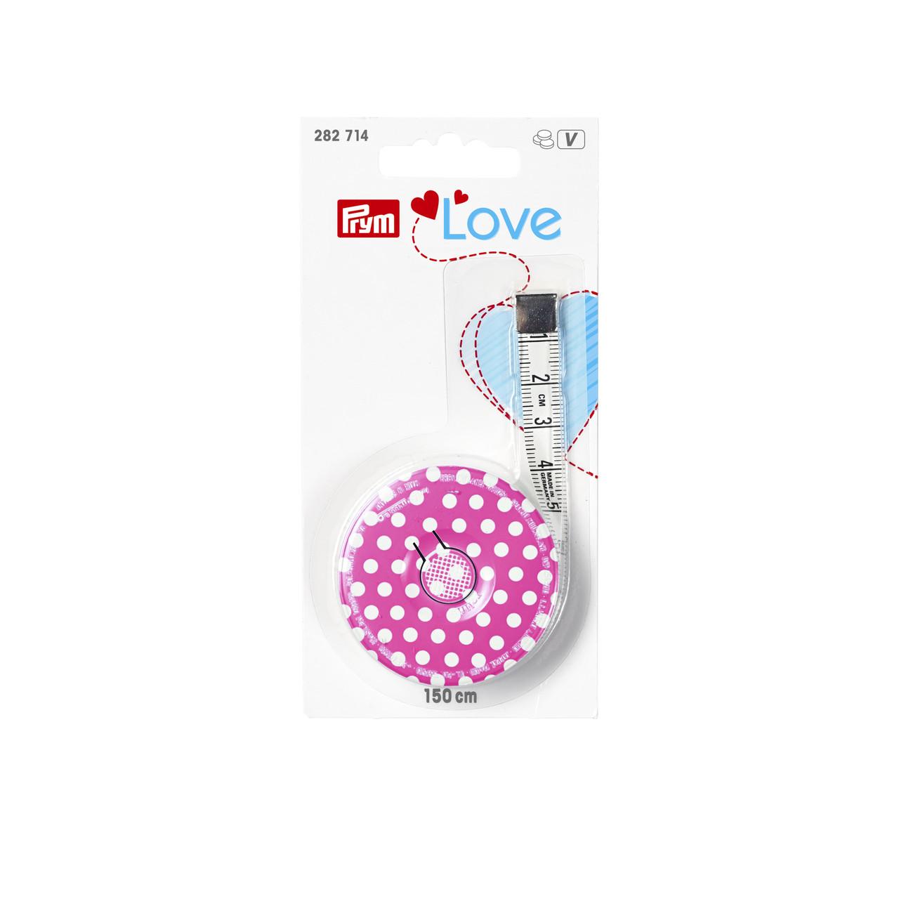 Рулетка с сантиметровой шкалой Prym Love 282714, розовая, 150 cм