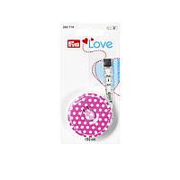 Рулетка с сантиметровой шкалой Prym Love 282714, розовая, 150 cм, фото 1
