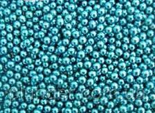 Присипка цукрова для кондитерських виробів Намистинки блакитний металік, 3 мм, 10 грам